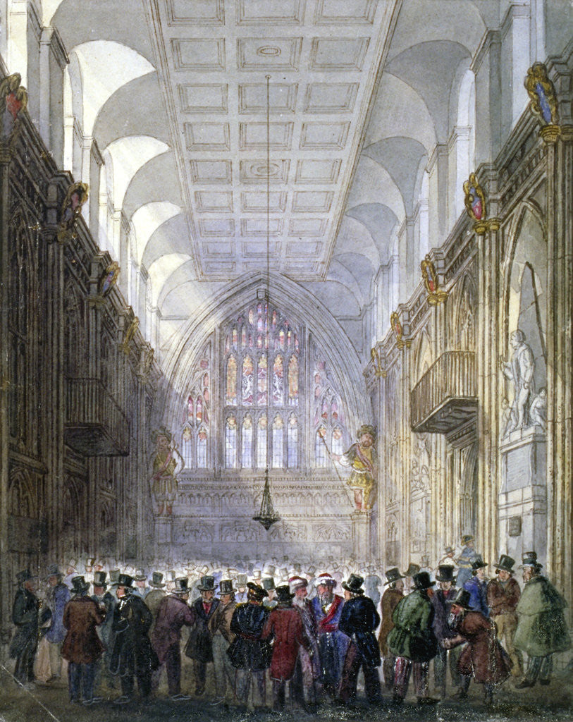 Detail of Interior of the Guildhall, City of London by