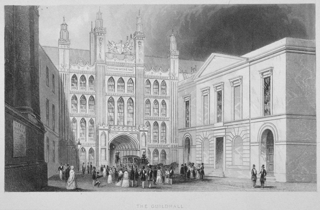 Detail of The Guildhall, City of London by Albert Henry Payne