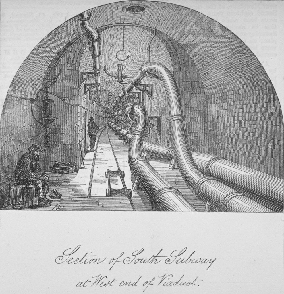 Detail of View of the south subway at the west end of Holborn Viaduct, City of London by Anonymous
