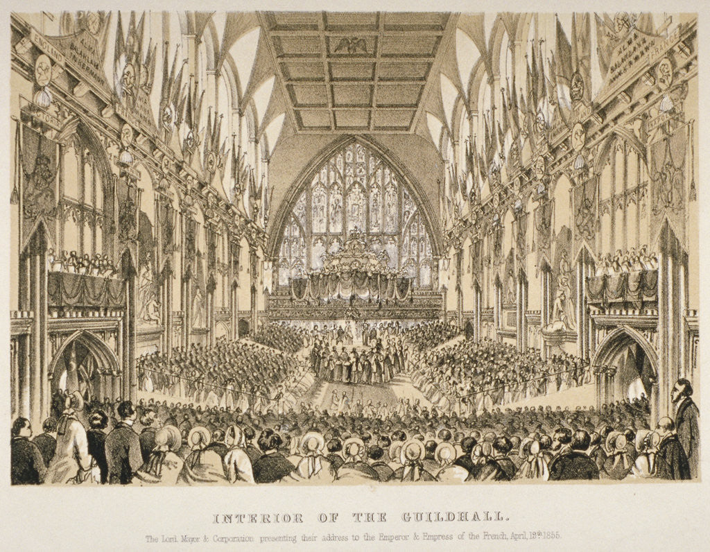 Detail of Interior of the Guildhall, City of London by Anonymous