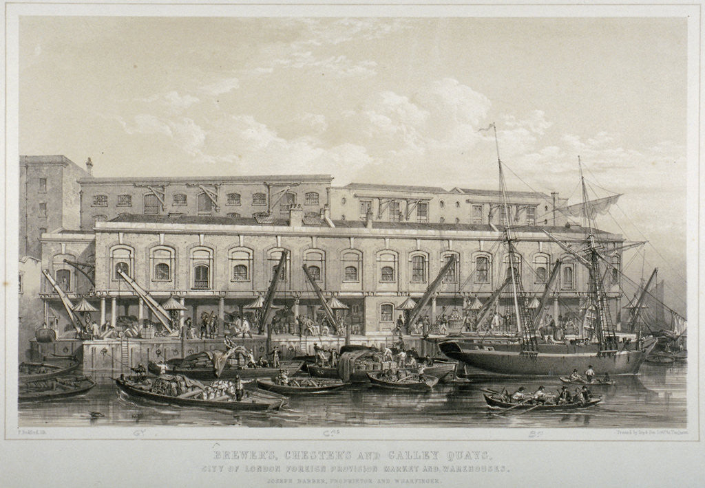 Detail of Brewer's Quay, Chester Quay and Galley Quay, Lower Thames Street, City of London by F Bedford
