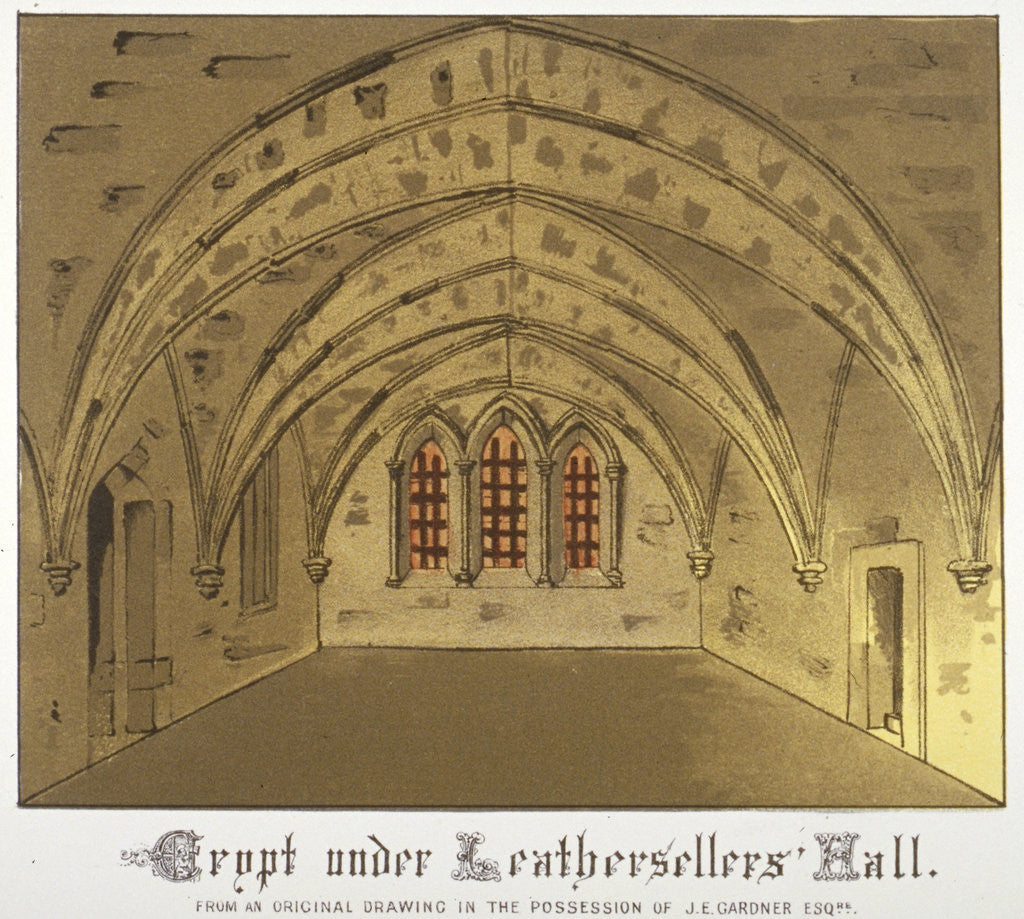 Detail of Crypt under Leathersellers' Hall, Little St Helen's, City of London by