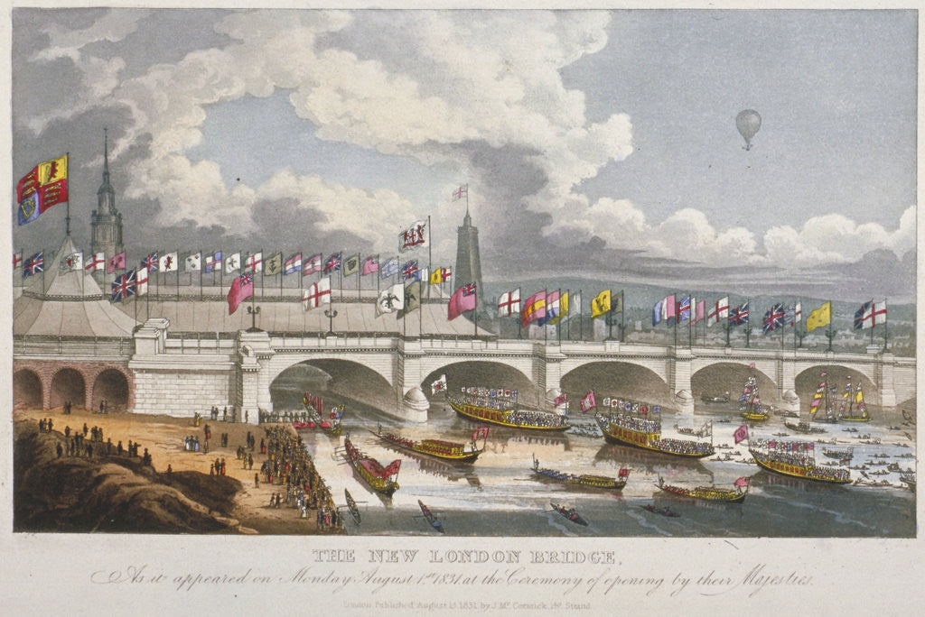 Detail of Opening ceremony of the new London Bridge by Anonymous