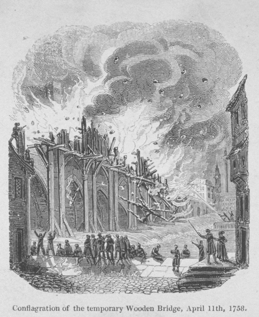 Detail of Fire on London Bridge by