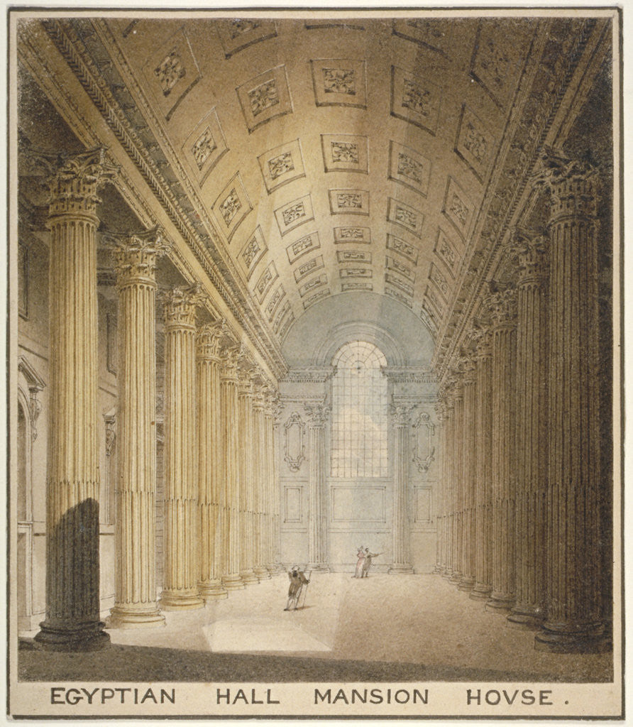 Detail of Interior view of the Egyptian Hall, Mansion House, City of London by