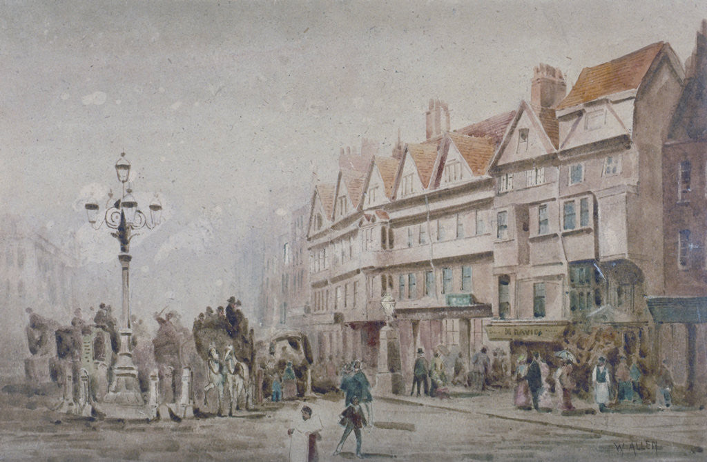 Detail of View east along the south side of Holborn and Stable Inn, London by