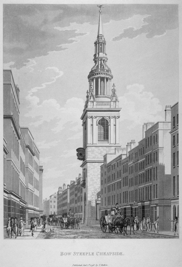 Detail of Church of St Mary-le-Bow, Cheapside, City of London by Sir Christopher Wren