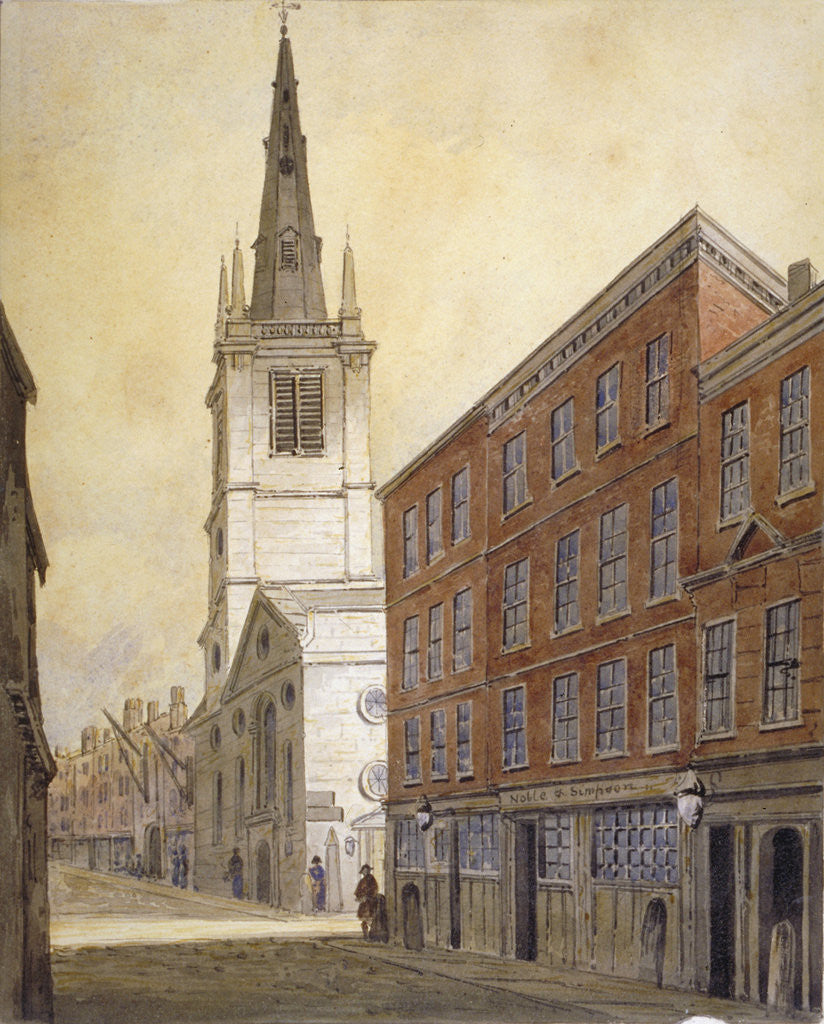 Detail of Church of St Margaret Pattens, Eastcheap, City of London by William Pearson