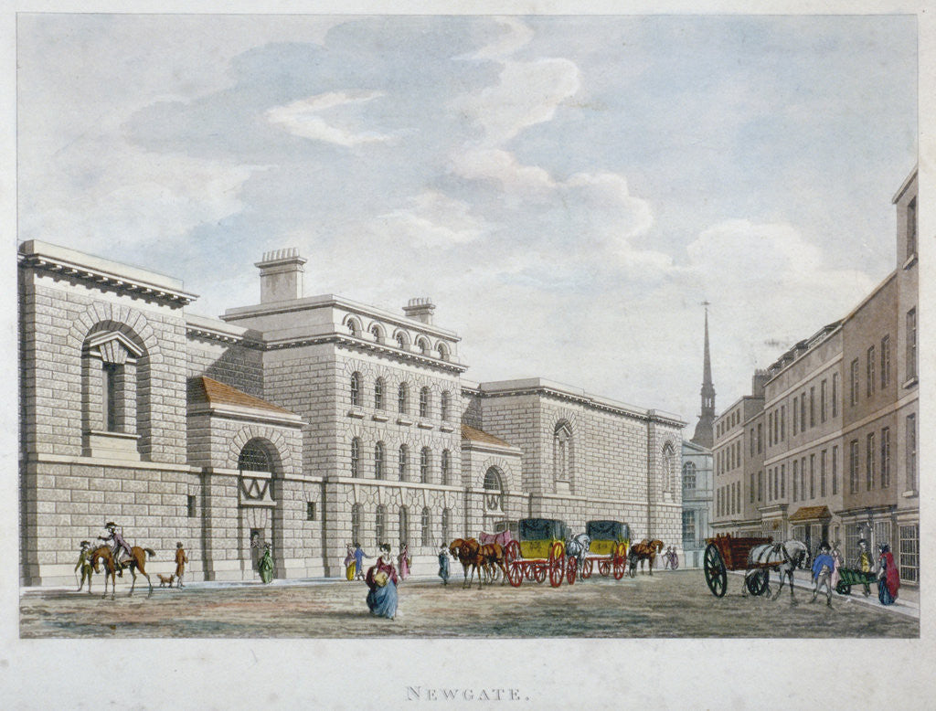 Detail of Newgate Prison, Old Bailey, City of London by Anonymous