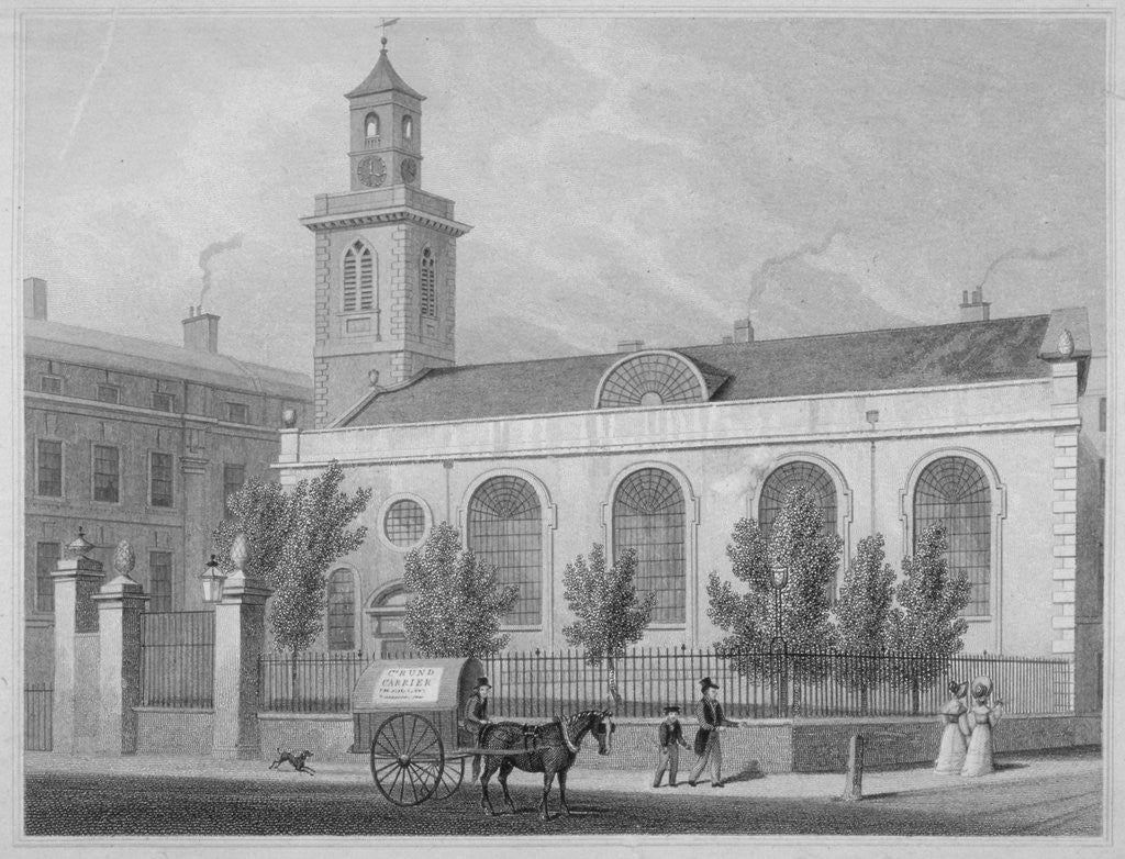 Church of St Mary Aldermanbury, City of London by R Acon