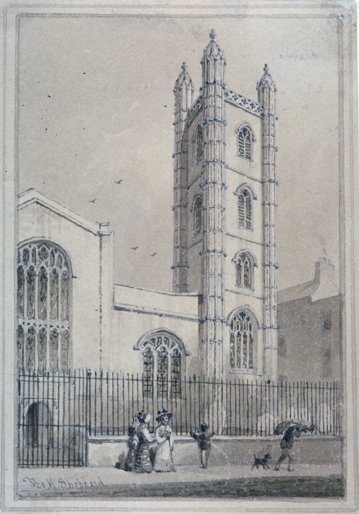 Detail of Church of St Mary Aldermary, City of London by Thomas Hosmer Shepherd