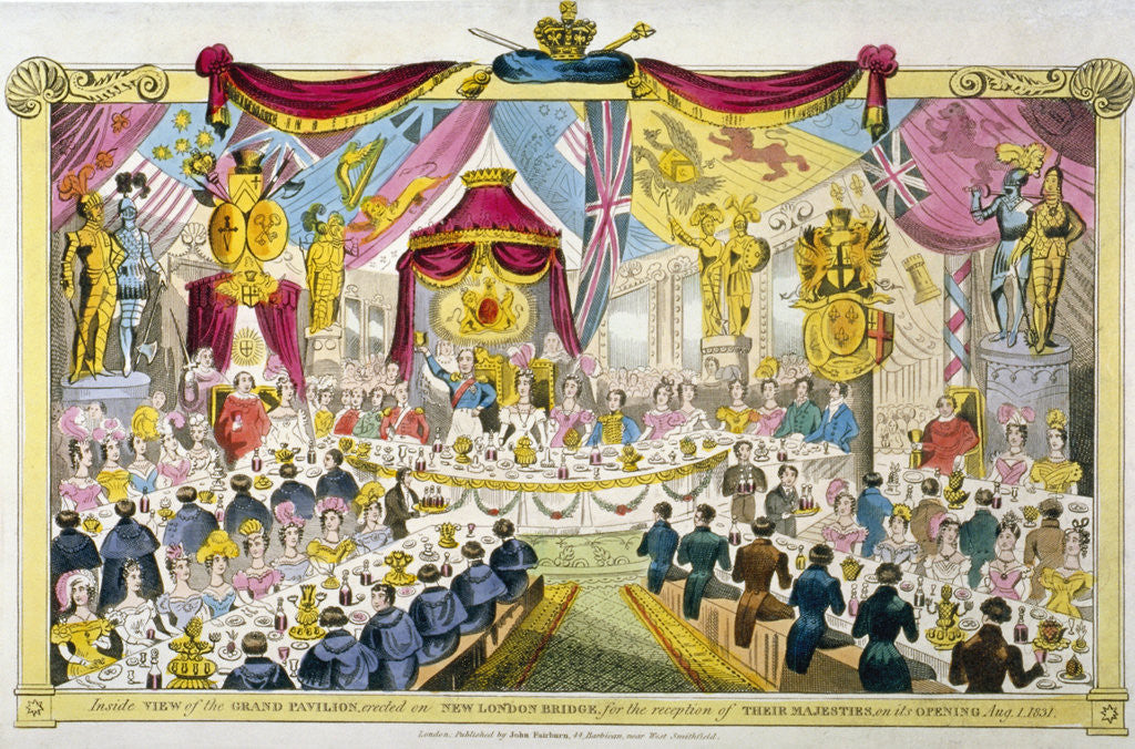 Detail of Royal opening of London Bridge by Anonymous