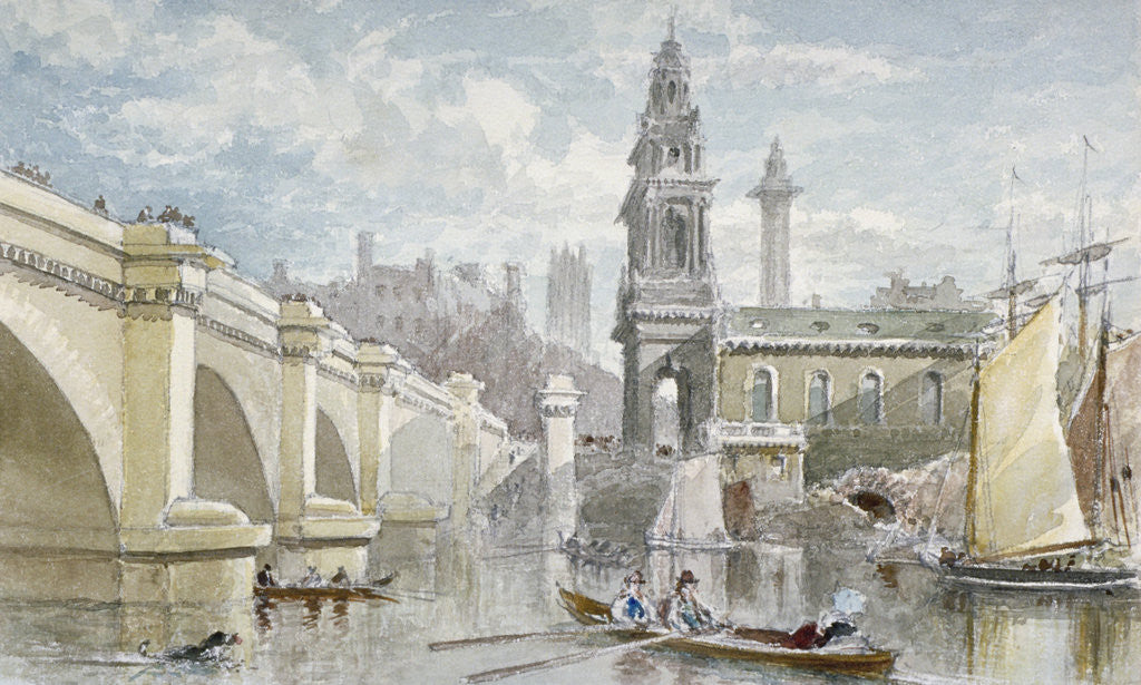 Detail of London Bridge by H Cundell