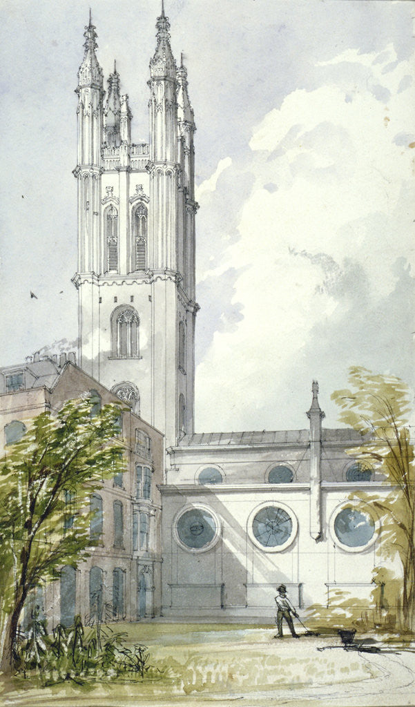 Detail of Church of St Michael, Cornhill, City of London by Robert William Billings