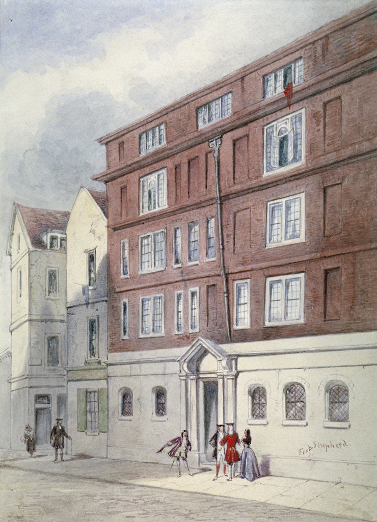 Detail of Residence of Titus Oates, Oat Lane, City of London by Frederick Napoleon Shepherd