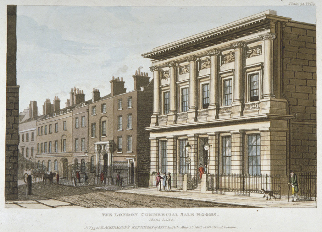 Detail of The London Commercial Sale Rooms and Mincing Lane, City of London by Anonymous