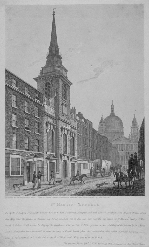 Detail of Church of St Martin within Ludgate, City of London by S Jenkins