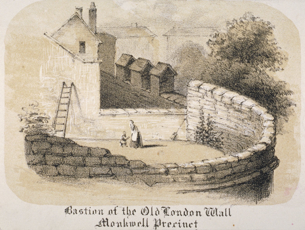 Detail of Bastion of London Wall near Monkwell Street, City of London by Anonymous