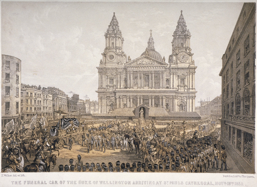 Detail of Funeral of the Duke of Wellington, St Paul's Cathedral, City of London, 18 November by Day & Son
