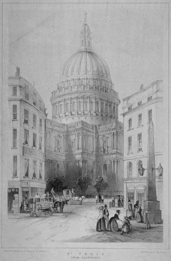 Detail of North-east view of St Paul's Cathedral, City of London by Sir Christopher Wren