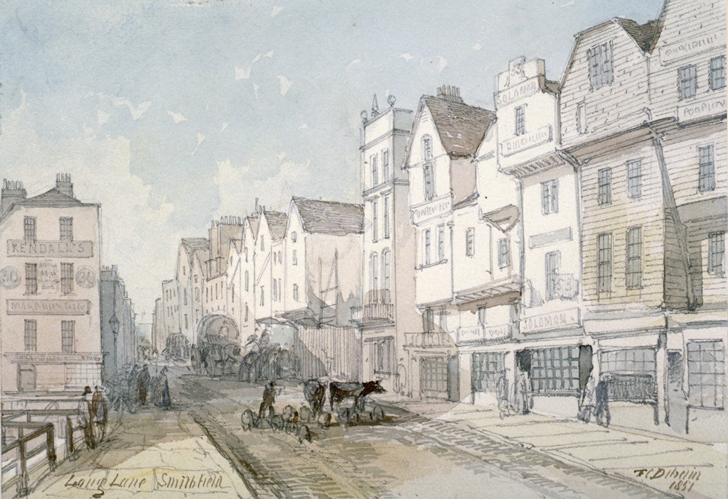Detail of Long Lane, City of London by Thomas Colman Dibdin