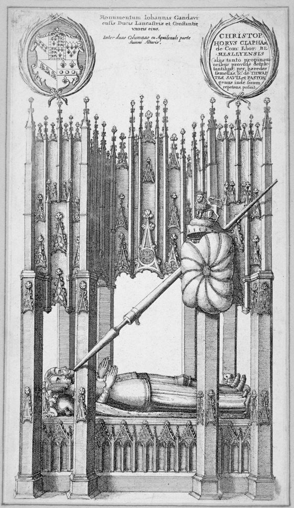 Detail of Monument of John of Gaunt and Constance of Castile, old St Paul's Cathedral, City of London by Wenceslaus Hollar