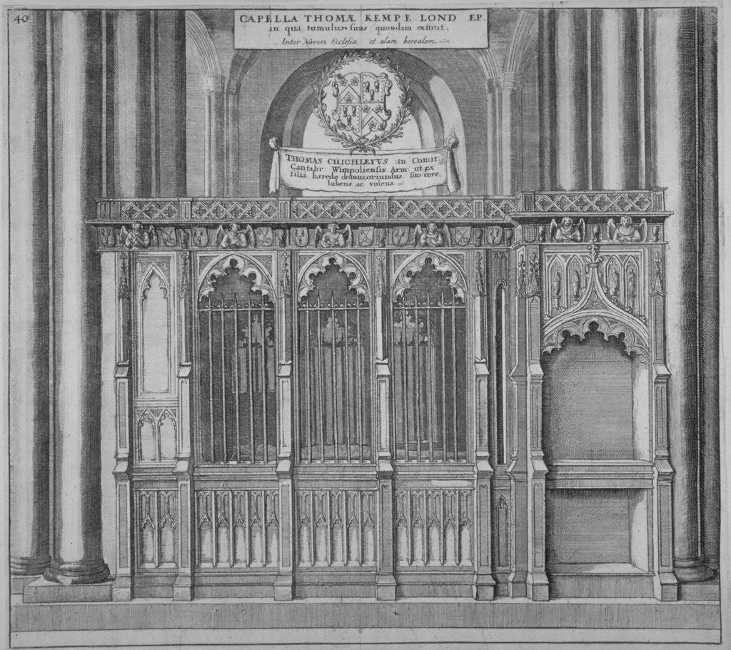 Detail of Tomb of Thomas Kemp in old St Paul's Cathedral, City of London by Wenceslaus Hollar