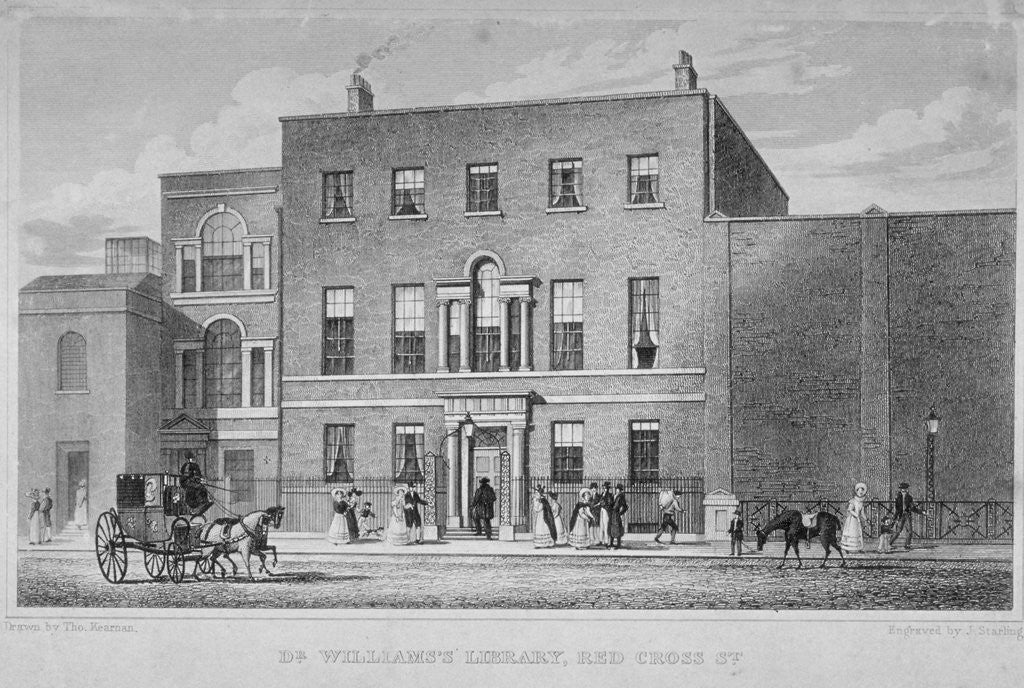 Detail of View of Dr Williams's Library in Redcross Street, City of London by