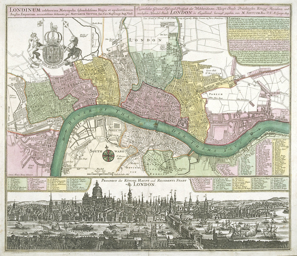 City Of London Map.Map Of Westminster The City Of London And Southwark