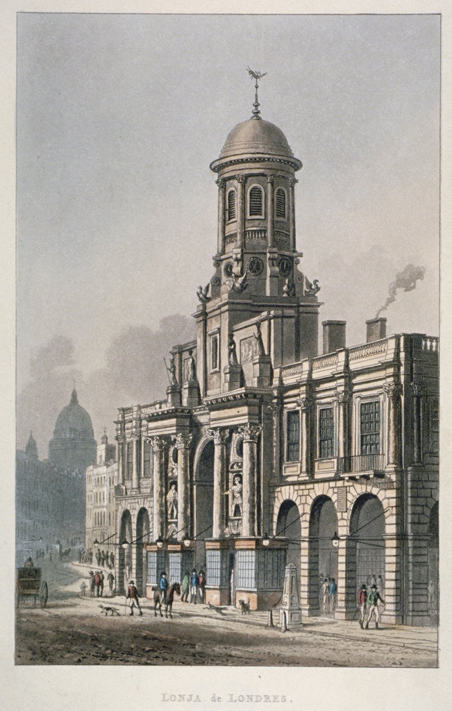 South front of the Royal Exchange, City of London by