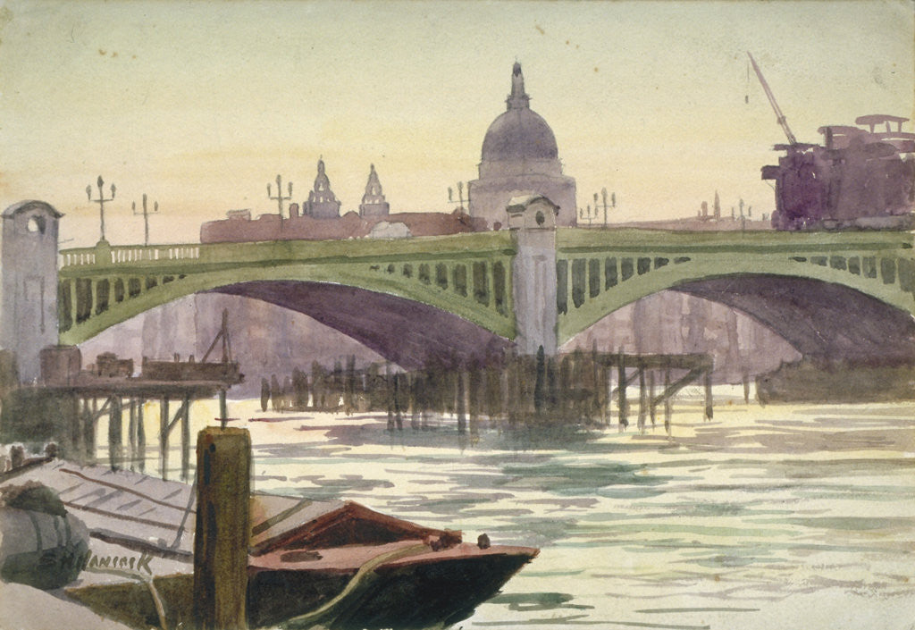 Detail of Southwark Bridge, London by Samuel Harry Hancock