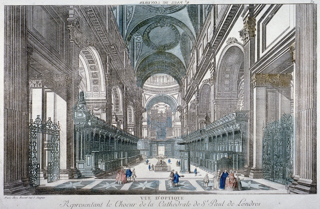 Detail of Interior view of St Paul's Cathedral showing the choir, City of London by