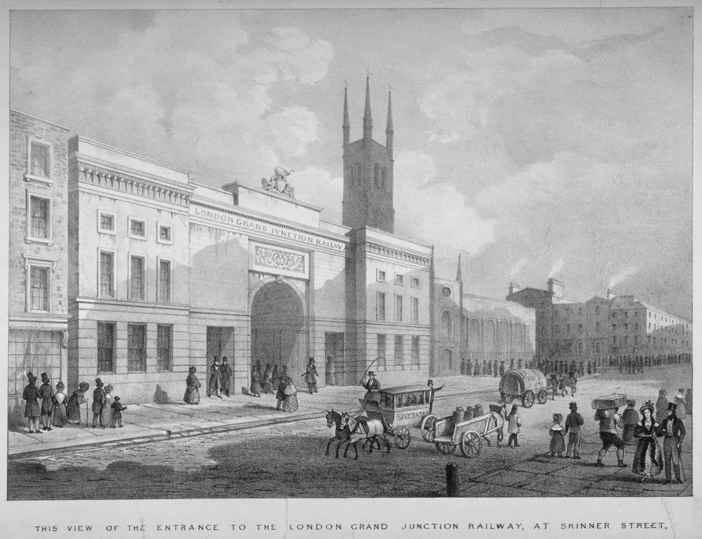 Detail of Entrance to the Grand Junction Railway terminal, Skinner Street, near Holborn Viaduct, London by Anonymous
