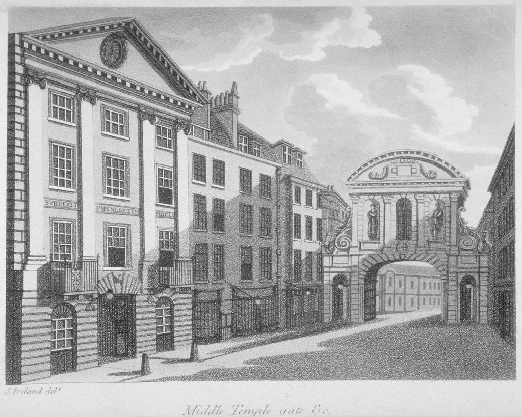 Detail of Gate House, Middle Temple, City of London by Anonymous
