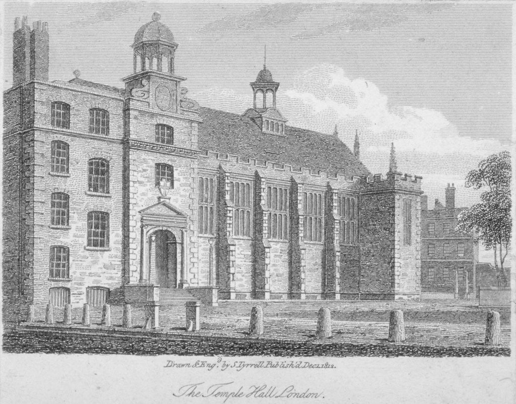 Detail of View of Middle Temple Hall from the north-east, Middle Temple, City of London by S Tyrrell