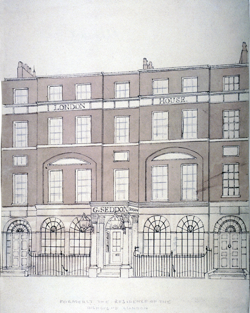 Detail of Front view of London House, Aldersgate Street, City of London by Anonymous