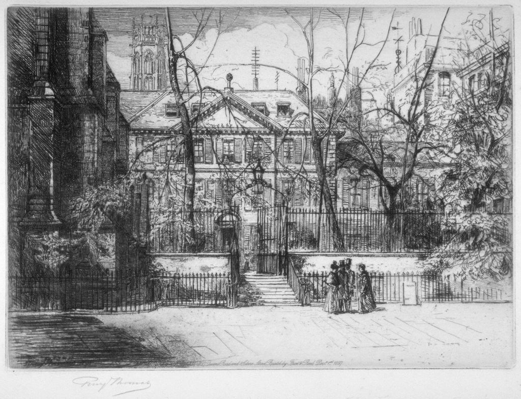 Detail of View of Master's House at Inner and Middle Temple, City of London by Percy Thomas