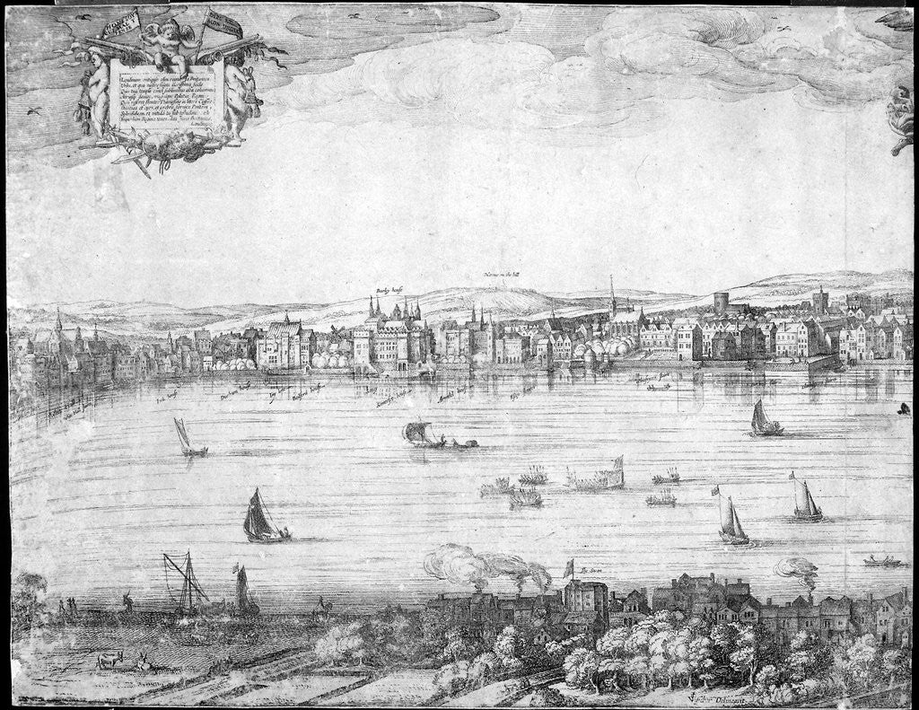 Detail of Panorama of London by Claes Jansz Visscher