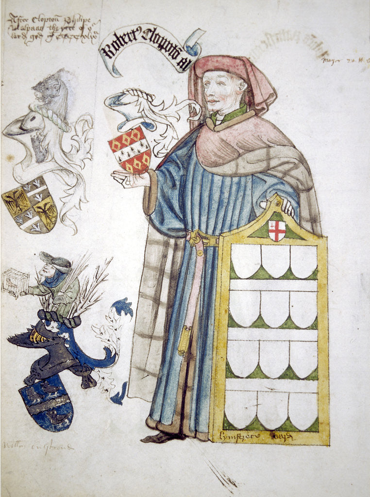Detail of Robert Clopton, Lord Mayor of London 1441-1442, in his aldermanic robes by