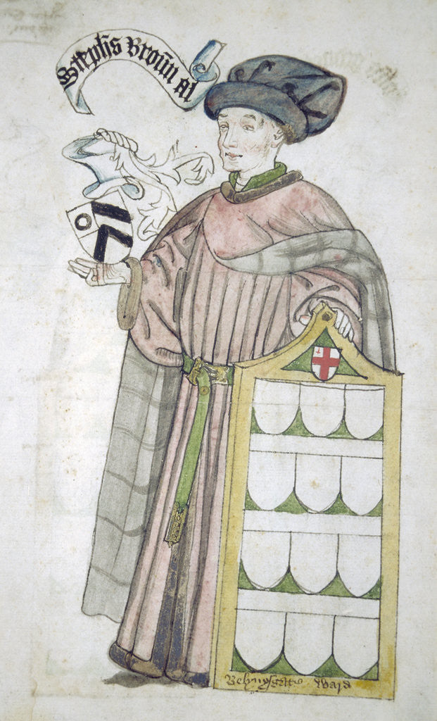 Detail of Stephen Broun, Lord Mayor of London 1438-1439 and 1448-1449, in aldermanic robes by