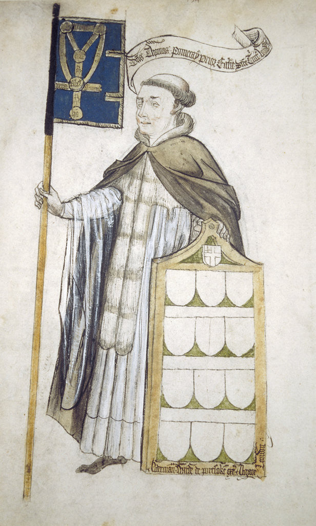 Detail of Thomas Pomeroy, Prior of Holy Trinity, in aldermanic robes by Roger Leigh