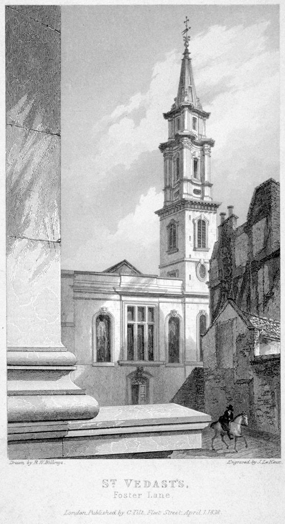 Detail of Church of St Vedast Foster Lane, City of London by