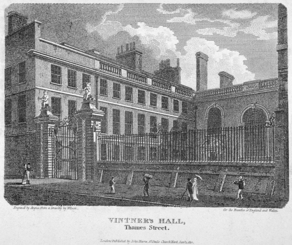 Detail of Vintners' Hall, Upper Thames Street, City of London by William Angus