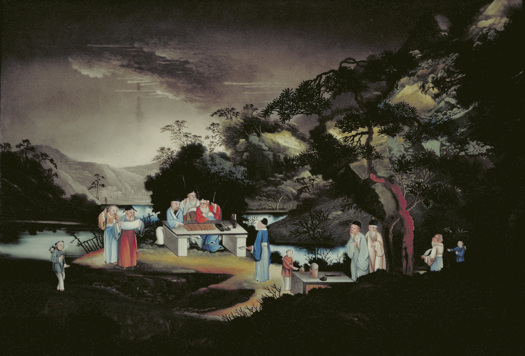Detail of Chinese scene by Anonymous