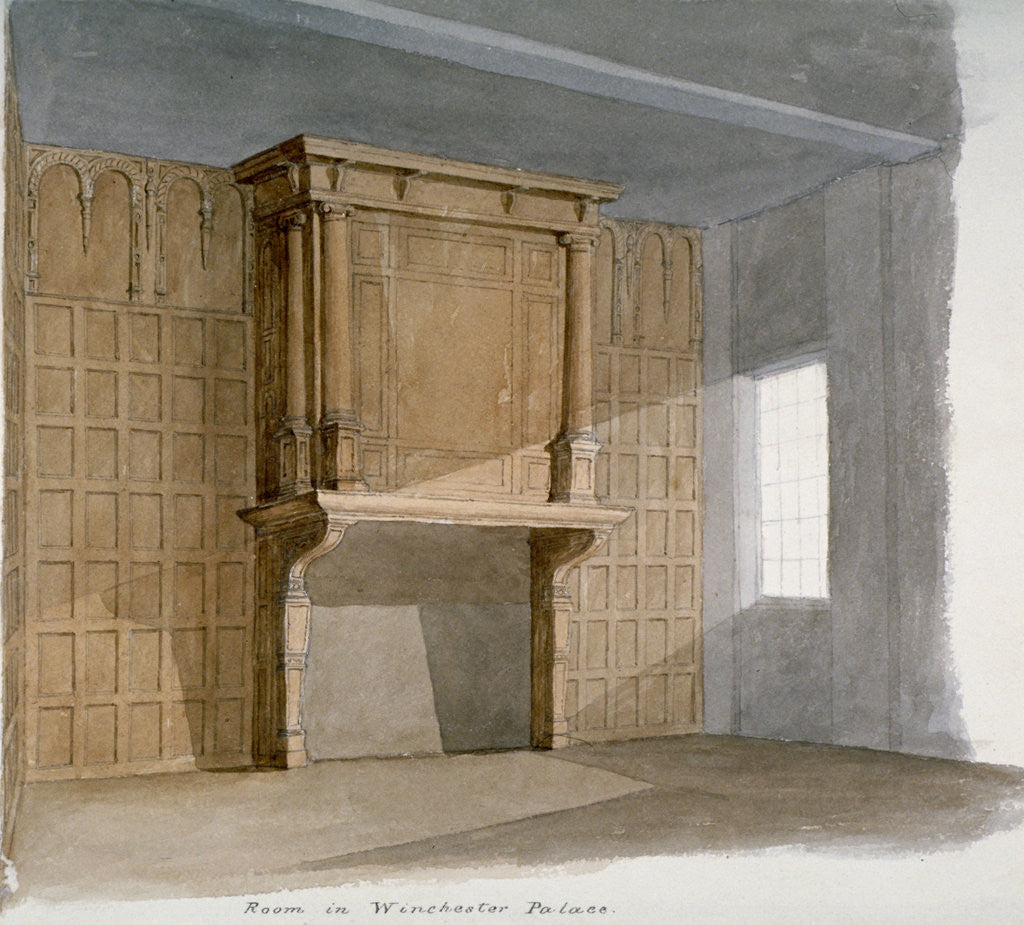 Detail of Interior of a room in Winchester House, Winchester Place, London by Anonymous