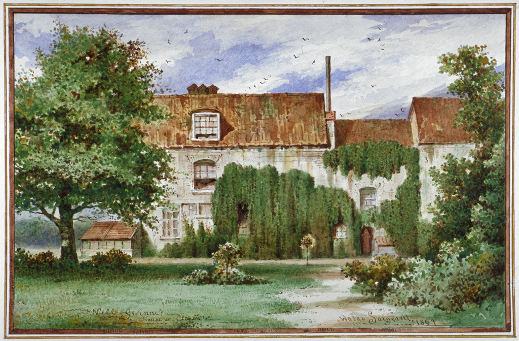 Detail of View of Sandford Manor House, Waterford Road, Chelsea by Waldo Sargeant