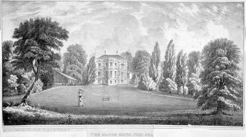 Detail of View of Chelsea Manor House, London by Anonymous