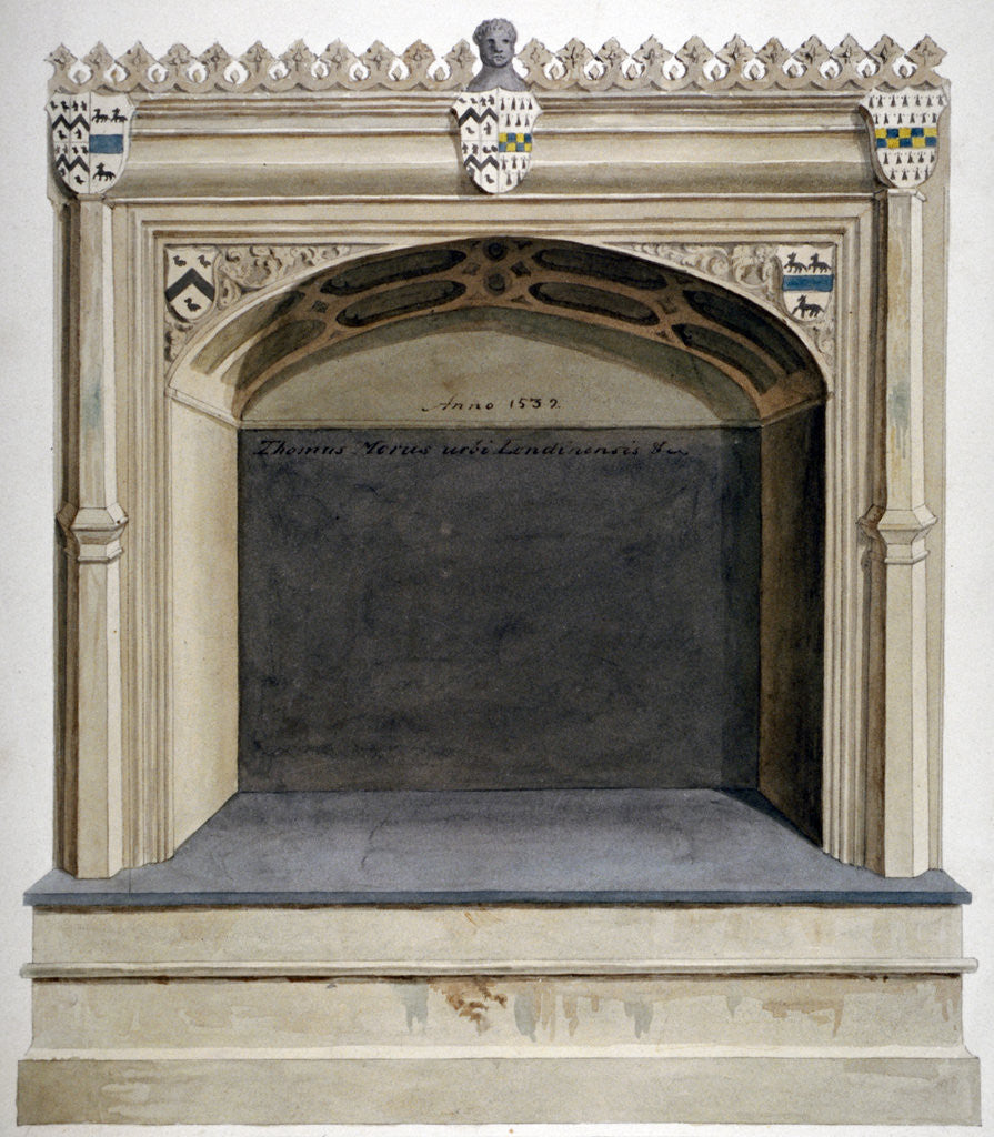 Detail of Tomb of Sir Thomas More in Chelsea Old Church, London by Anonymous
