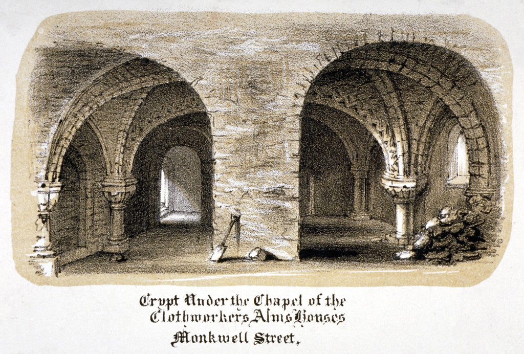 Detail of Crypt under the Chapel of the Clothworkers' Almshouses, Monkwell Street, City of London by Anonymous