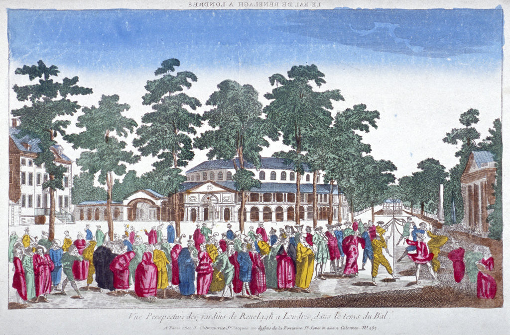 Detail of The Rotunda and Ranelagh House in Ranelagh Gardens, Chelsea, London by Anonymous